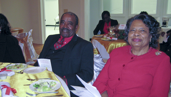 Edna White, president, Miss. State Federation of Colored Women's Clubs, and a distinguished Eureka Club member, with husband Howard.