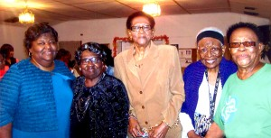 THE PRENTISS HEADLIGHT / Five beautiful women of God were honored for their community service. They are (L to R) Paulette Thompson, Ina Bell Weary, Dorothy Polk, Ruth Cobbin, Elizabeth Martin.