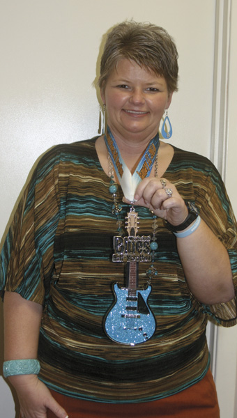 Karen Sanford / The Prentiss Headlight – Congratulations to Missy Jones who completed the Mississippi Blues Half-Marathon this weekend in Jackson.  Over 3,500 people participated and all finishers received a medal shaped like a blues guitar as shown above. This is Missy's fifth year to compete in the sport.