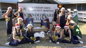 THE PRENTISS HEADLIGHT  / JENNIFER HALL  PCS Drill Team visited the nursing home here in Prentiss to give the patients a little Christmas spirit. They got together the week before and made around 60 homemade Christmas cards to hand out to the patients. They performed two dances while visiting. Members present to dance and join in on the activities were: Maidyn Rush, Josie Hall, Shelby Hodges, Corie Waites, Amber Graves, Ashley Smith, Hannah Riley, Sam Jones, Alyssa Ervin and Lacie Waites.