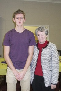 THE PRENTISS HEADLIGHT / Guest speaker Peyton Dungan was introduced to the 20th Century Club by his grandmother and Club member Sharon Dungan. Peyton spoke of his mission trip to Thailand last year.