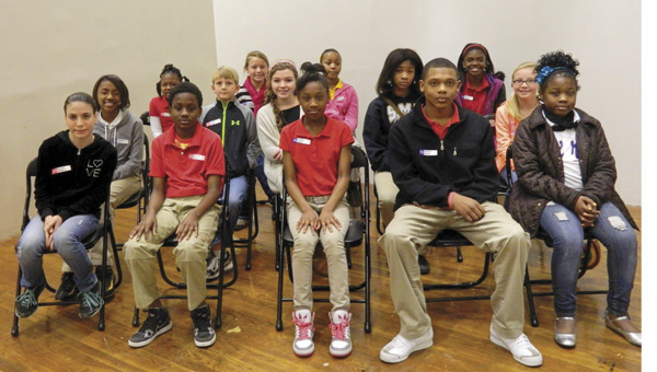 Shirley Burnaham / The Prentiss Headlight — Students from BHS, Carver Elementary, PHS, J. E. Johnson and Prentiss Christian School participated in the Jeff Davis County School District Spelling Bee.