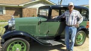 Shirley Burnham / The Prentiss Headlight—Bedwell's car will be among the many antique cars you can see at the Run for the Roses Antique Car Show April 12th.