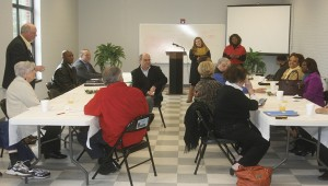 Holley Cochran / The Prentiss Headlight—MDA Team Members meet with Prentiss & Bassfield community leaders before touring the county.