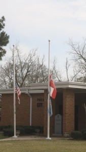 Holley Cochran / THe Prentiss Headlight—Board of Supervisor's President Bobby Rushing has requested flags be flown at half-staff in memory of Jefferson Davis County Tax Assessor/Collector Sue Shivers Worthy.