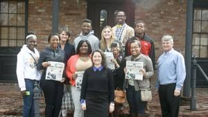 Bassfield High School journalism students toured the Brookhaven Daily Leader during a recent field trip. Pictured above, Shania Hosey, Shalea Copeland, Quashuna Parkman, Kiana Merritt, Prentiss Headlight editor Karen Sanford, Tedrina Hall, Prentiss Headlight President and Publisher Otis Raybon, BHS journalism teacher Melissa Martin, Tyler Thompson, Rebecca McNeese, Fred White, and Curtis Mikell.