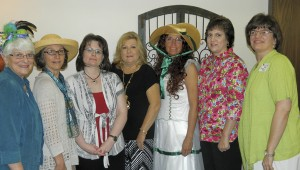 Shirley Burnham / The Prentiss Headlight—Program personalities for the Ladies Spring Brunch sponsored by Prentiss Baptist were L-R Janie Winscott, Barbara Slater, Carrie Mayo, Debie Greenhill, June Berry, Dorene Langley and Laura Leigh James.