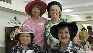 Shirley Burnham / The Prentiss Headlight—Some of the ladies sporting fine millinery at the event were Rosemary Mooney, Diane Daughdrill, Shirley Burnham and Susan Slater.