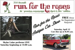 The 31st annual Run for the Roses 5K walk/run will be held Saturday, April 12th in Prentiss.