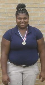Holley Cochran / The Prentiss Headlight—Jolissa Fairley won the State 2-A shot put title for Bassfield High School.
